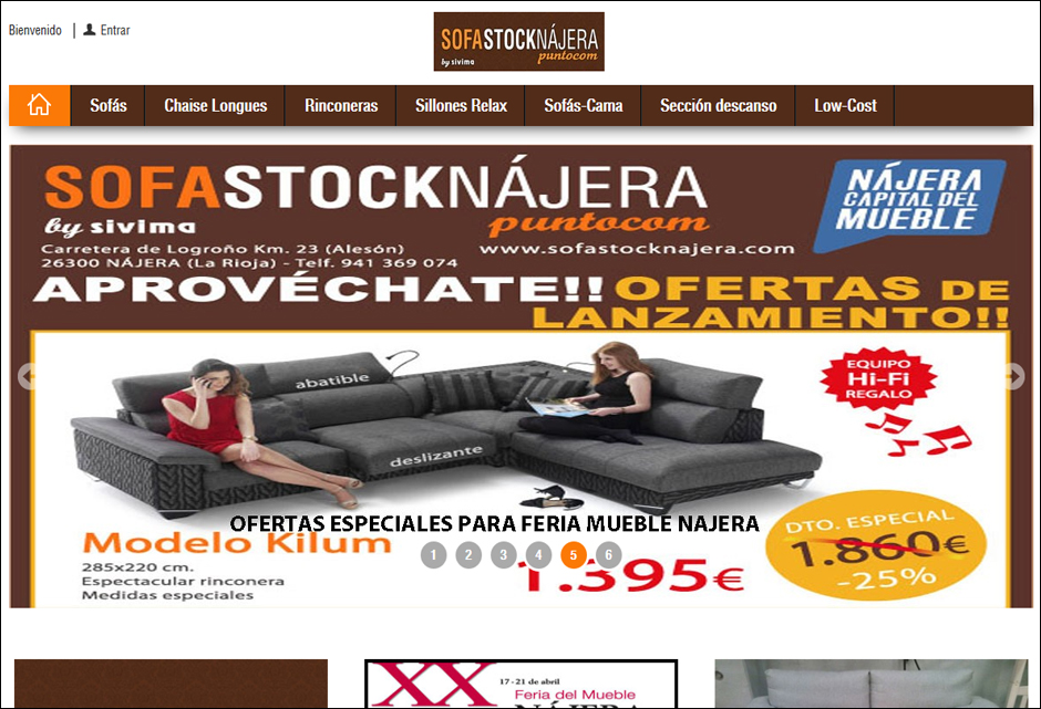 Sofa Stock Nájera