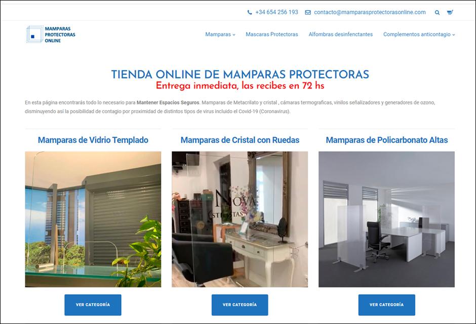 mamparas protectoras online